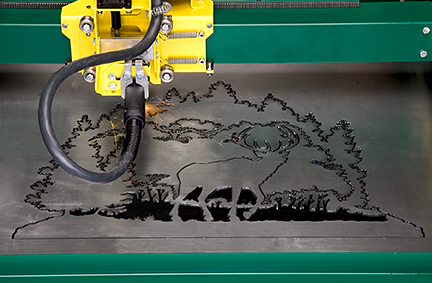 GoTorch CNC plasma system cutting out an elk