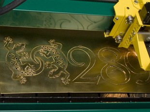 GoTorch CNC plasma table cutting out brass