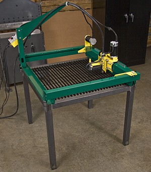 GoTorch CNC plasma cutting system mounted on a table