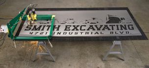 GoTorch CNC plasma cutting table in the back of a pickup truck